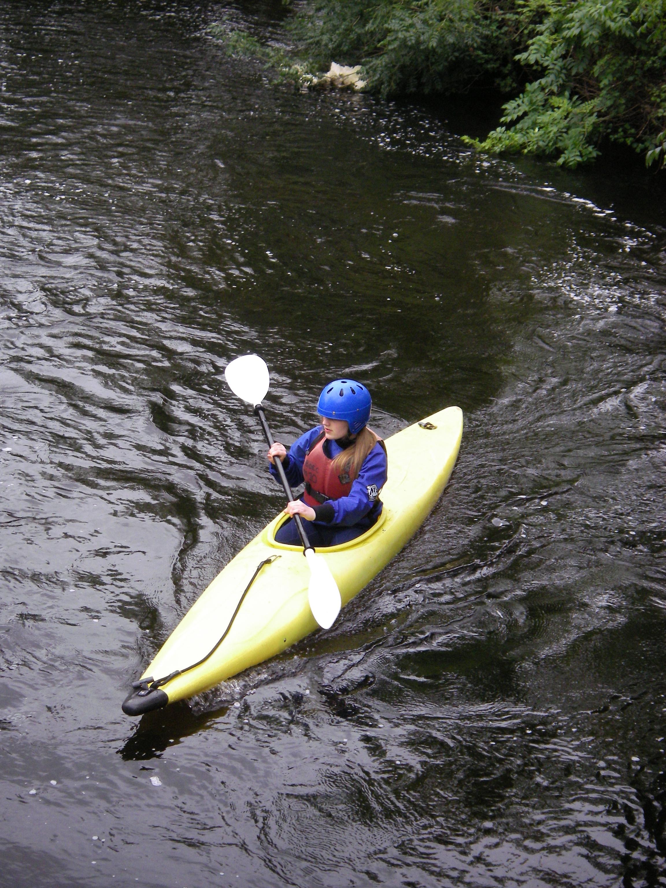 kayaker on fergus river