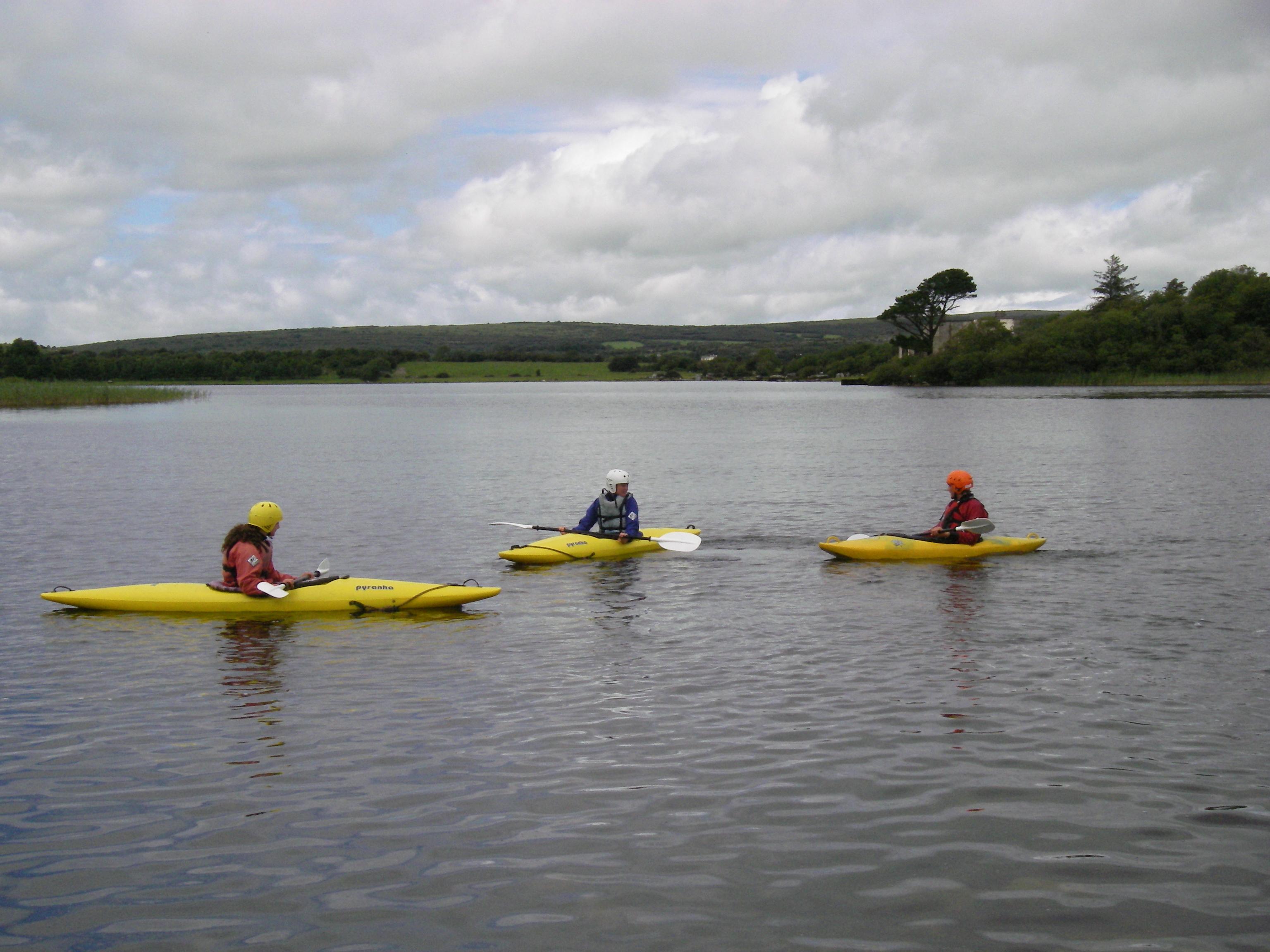 lake kayakers