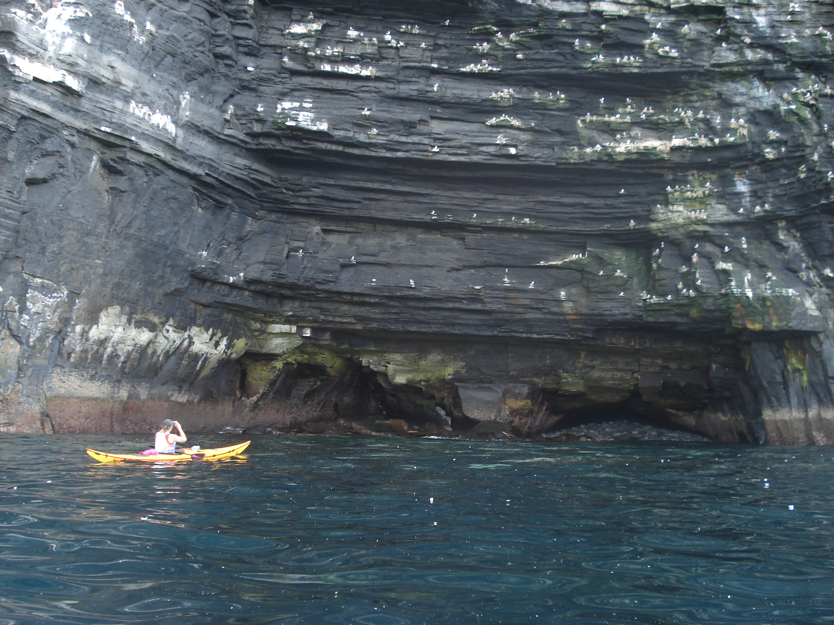 sea cliff kayaking